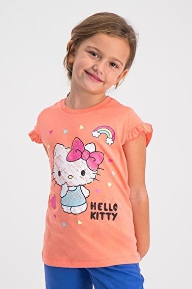 Hello Kitty Lisanslı Kız Çocuk T-Shirt Oranj